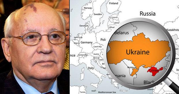 Gorbačov podpořil anexi Krymu. Ukrajinci mu na pět let zakázali vstup do země