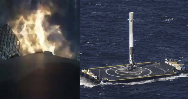 Návrat na planetu Zemi: NASA zveřejnila video z přistání rakety