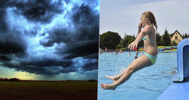 Českem se proženou silné bouřky, sledujte radar. Teploty se vyšplhají ke 30 °C