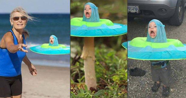 Dítě s kruhem na hlavě se stalo hitem internetu! Parodie na sebe nenechaly dlouho čekat