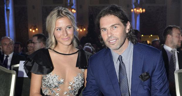 Jaromír s Veronikou  na Zlaté hokejce.