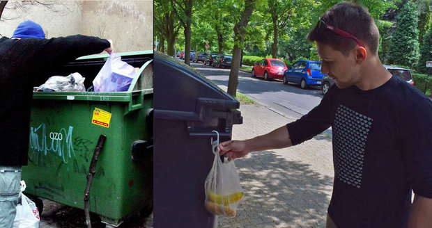 Stop bezdomovcům v popelnicích: Český student vymyslel háček na jídlo