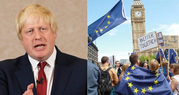 Johnson vytáhl proti odpůrcům brexitu: Hysterie jako po smrti princezny Diany