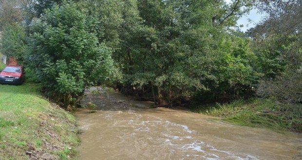 Vydatný déšť rozvodňuje řeky: Blanice zatím hlásí první stupeň (Ilustrační foto).