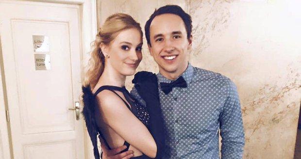 Anna Kadeřávková s přítelem Johanem Mádrem