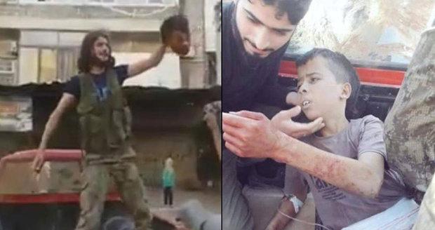 Povstalci v Sýrii usekli hlavu desetiletému chlapci: Vše natočili na video!
