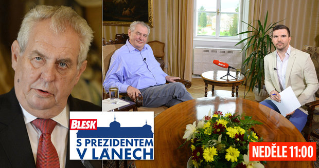Prezident Zeman v neděli živě na Blesk.cz: Zhoršuje se jeho zdravotní stav?