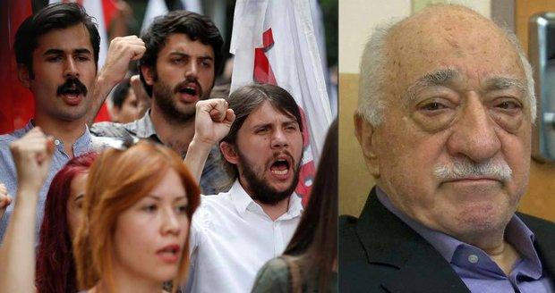 Turecko dál účtuje s pučisty. Pro víc než tisícovku stoupenců duchovního razí s pouty
