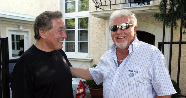 Milan Drobný s Karlem Gottem