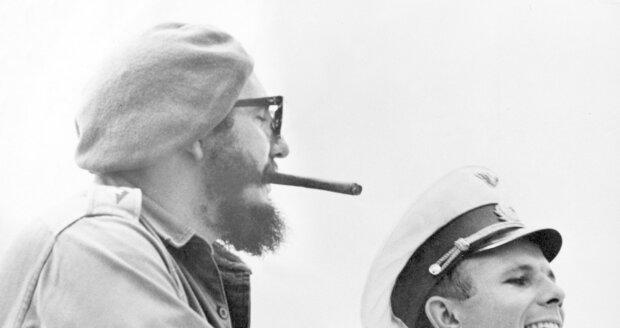 Fidel Castro a legendární sovětský kosmonaut Jurij Gagarin v roce 1961