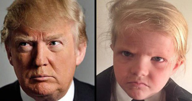 Malý Donald Trump.