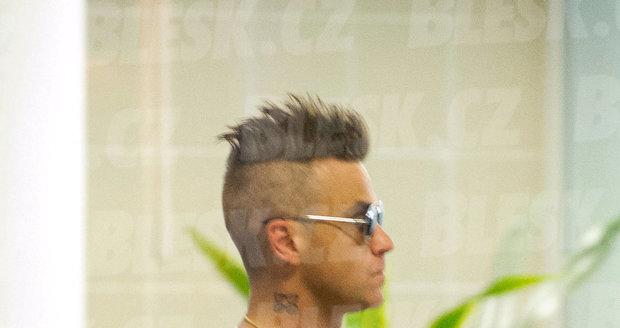 Robbie Williams dorazil do Prahy na ruskou veselku na Žofíně.