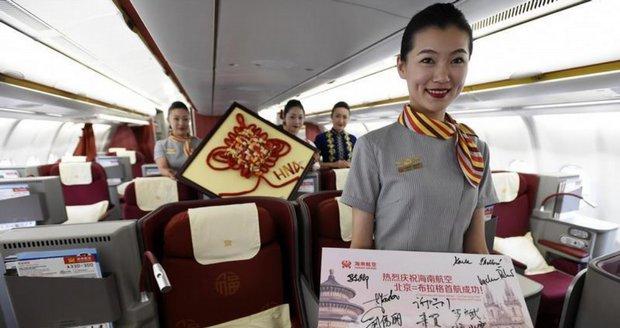 Otevření nové linky Hainan Airlines z Pekingu do Prahy