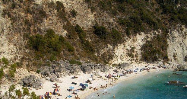 Pláž na ostrově Lefkada