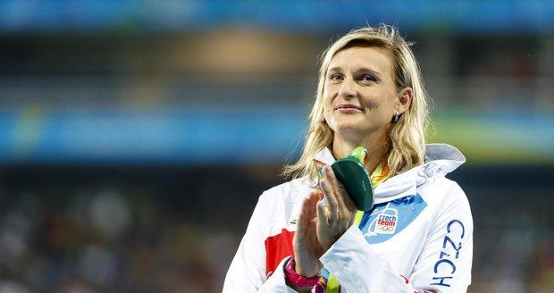 Barbora Špotáková slaví svou bronzovou medaili