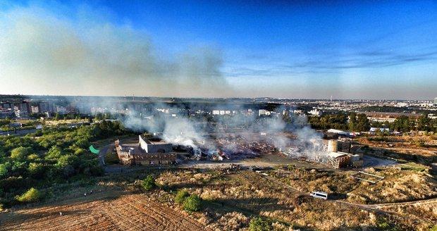 Požár kulis na Barrandově
