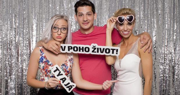 Martin Čermák s Hankou a Karolínou