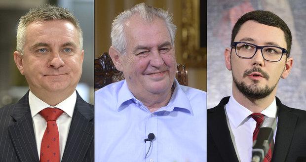 """Kolik bere Zemanova hradní parta? Ovčáček, Mynář i Forejt jsou """"ve vatě"""""""