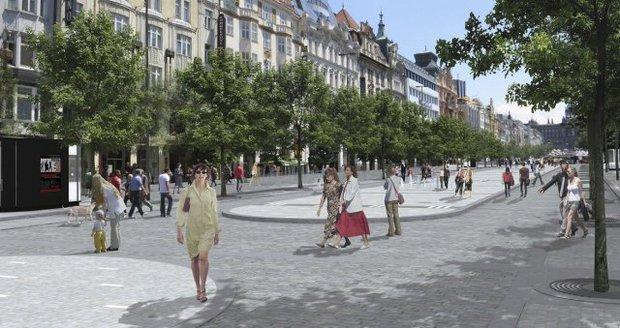 Vizualizace plánovaných změn Václavského náměstí v Praze