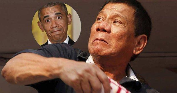"""""""Zku*vysyn,"""" narazil prezident Filipín na Obamu. Ten zrušil setkání"""