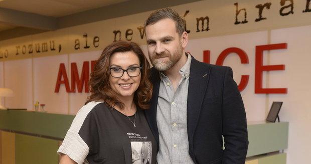 Ján Jackuliak se svou seriálovou přítelkyní Danou Morávkovou.