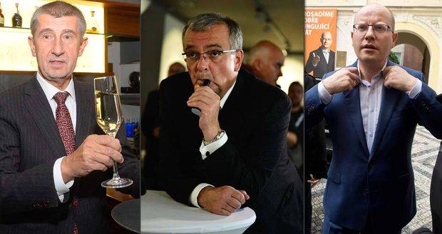 """Kalousek v pasti a """"Berlusconi"""" Babiš. Expert: Co ukázaly volby o lídrech?"""