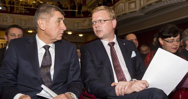 """Babiš ani Bělobrádek vyhazov ministrů neplánují. """"Je to věc ČSSD,"""" shodli se"""