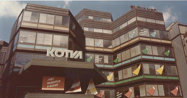 Obchodní dům Kotva na historickém snímku