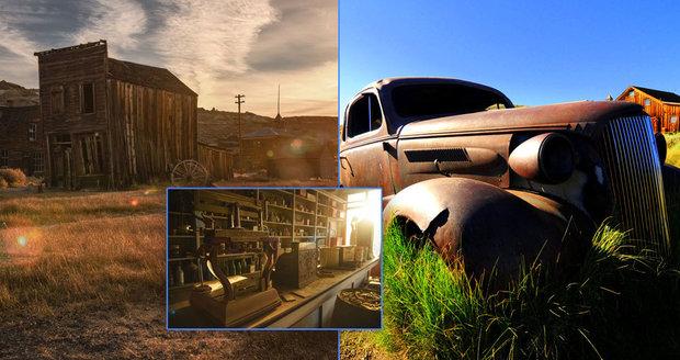 Kalifornské město Bodie je »osadou duchů«. Během zlaté horečky tu bydlely tisíce lidí, dnes tu není nikdo.