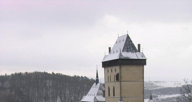 Karlštejn v zimě