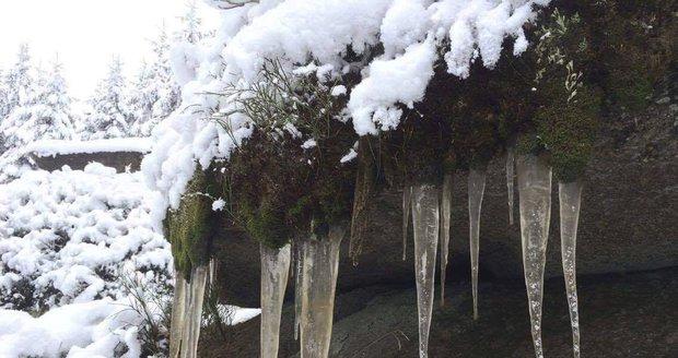 Ledovka z liberecké chaty na Jizerce