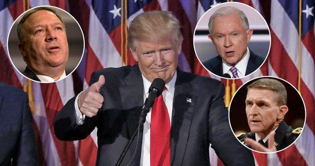 Trump skládá tým. Je tu provokatér, uhlazený rasista i generál v důchodu
