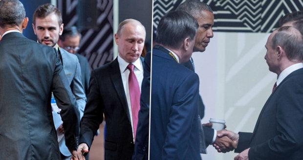 Obama, Putin a chladný stisk. Světoví lídři se setkali na čtyři minuty
