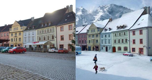 Nad vánoční reklamou z Česka žasne celá Evropa: Loket se přestěhoval do Alp