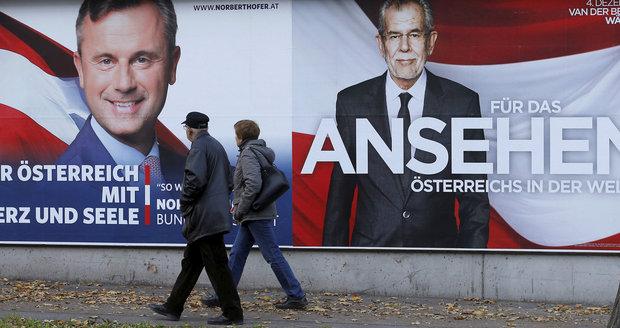 Kampaň v Rakousku skončila, výsledek voleb prezidenta asi bude těsný