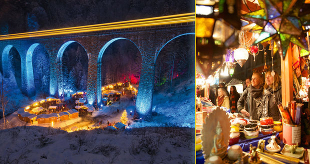 Netradiční vánočních trhy v Evropě