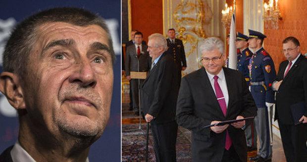 """Ludvík a Chvojka jako ministři na rok? """"Nerozum,"""" souzní Babiš s opozicí"""