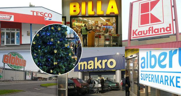 Přehledně: Otevírací doba o Vánocích, do konce roku a začátek výprodejů