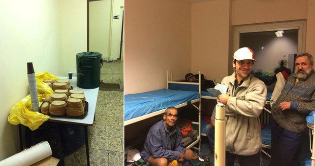 Noclehárna Vackov má pokoje pro osm lidí. Bezdomovci dostávají při příchodu  chléb či deku. eb16c38746