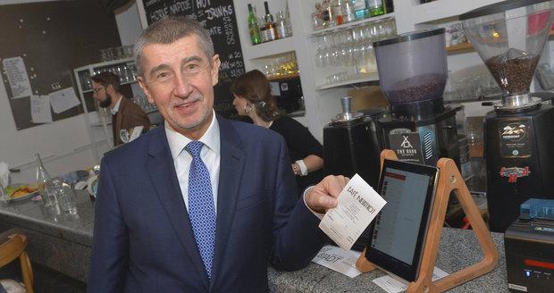 """""""Tahák"""" EET začne v září: Babiš spustí účtenkovou loterii, rozdá 65 milionů"""