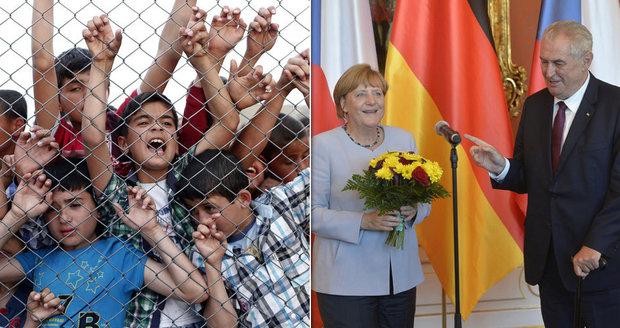 """Uprchlický rok 2016: """"Nevděční"""" Iráčané, Merkelová v Praze a Zemanovy deportace"""