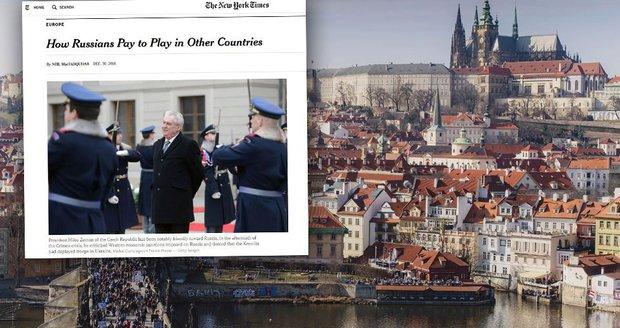 Platí Zemana Rusové? New York Times řeší vliv Kremlu na Česko