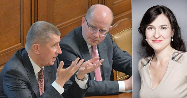 Ekonomka Markéta Šichtařová hodnotí snahy Andreje Babiše a Bohuslava Sobotky, kterými se snaží upoutat voliče.