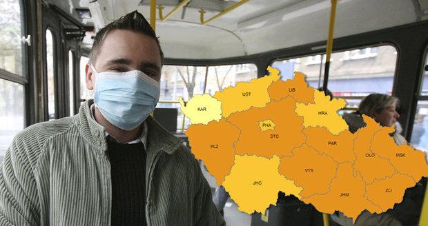 Česko podlehlo chřipce. Epidemie udeřila v celé zemi