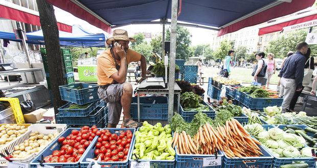 Farmářské trhy bez tašek