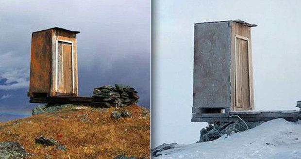 Nejextrémnější záchod na světě na Sibiři: Latrína visí na skále v nadmořské výšce 2,6 km!