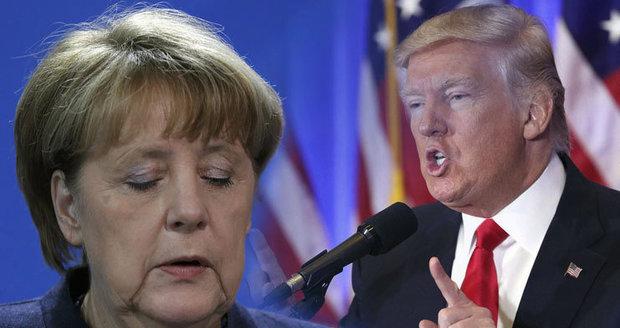 """""""Neospravedlnitelné."""" Merkelová kritizuje Trumpa za stopku migraci"""