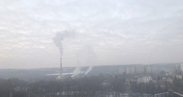 Špatná smogová situace trápí Prahu.