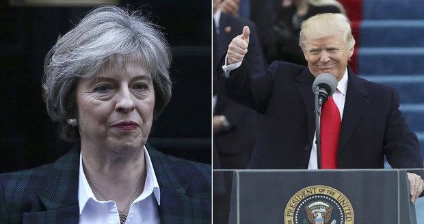 První státnice u Trumpa: Mayovou chválil za brexit a rozmyslel si to s mučením