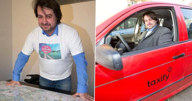 Taxikář Zdeněk Macura: Konkurence po mně hází vajíčka!